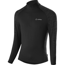 Löffler Rob Transtex Sweater met Rits Heren, black